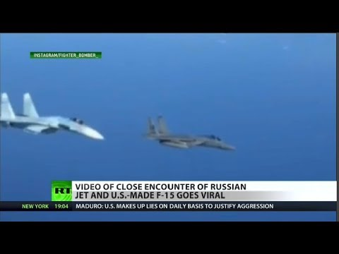 GET OUT: Russian fighter takes on F-15