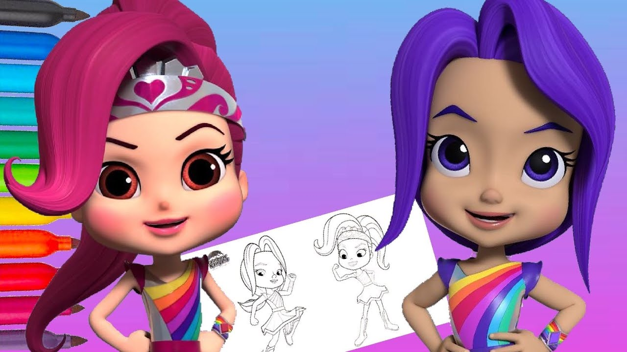 Rainbow Rangers Indigo Alfruit and Rosie Red Coloring for ...