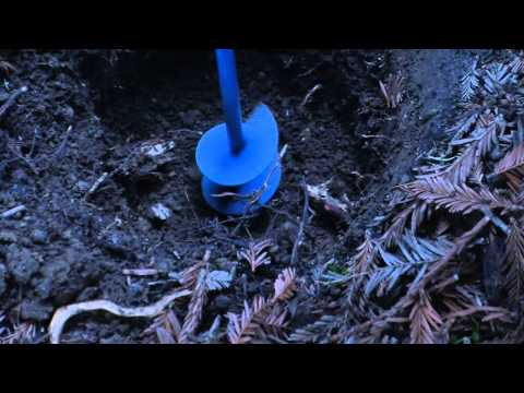 Cupertino gardening, drilling through the clay layer