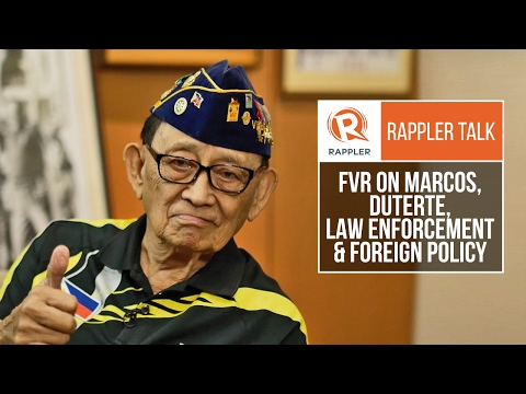 Rappler Talk: FVR on Marcos, Duterte, law enforcement and foreign policy