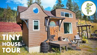 Carpenter Builds Incredible Sculpted Tiny House with Loads of Unique Features!