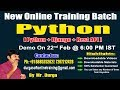 Python Online Training Demo On 22nd Feb @ 6:00 PM  IST by Durga sir