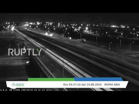 Italy: CCTV footage reveals moment devastating earthquake hits Italy