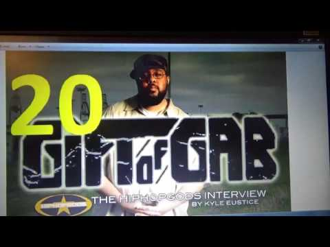 Paul Bocian's Top Rappers #20 to #16 , PART ONE