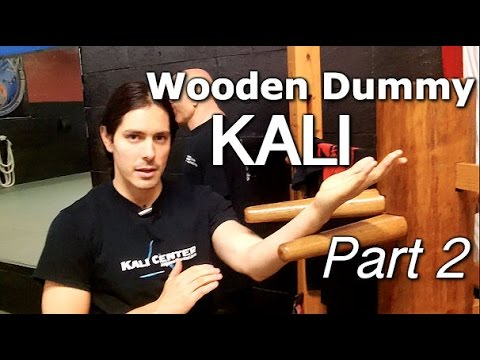 FILIPINO KALI DRILL on Wing Chun Wooden Dummy - Part 2