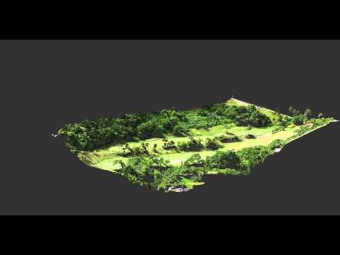 【UAV空撮】ゴルフ場3D点群動画(上空旋回)