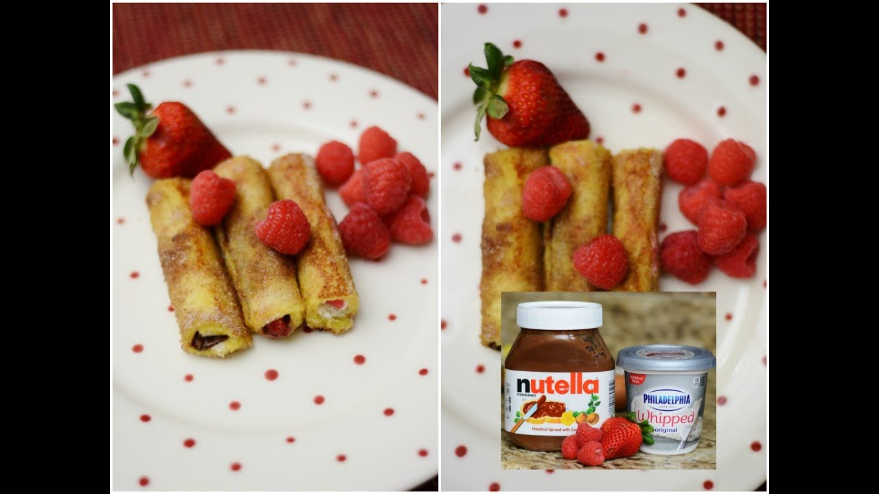 Tasty Nutella French Toast Roll Ups Easy Simple Tasty Recipes Raspberry Nutella  French Toast