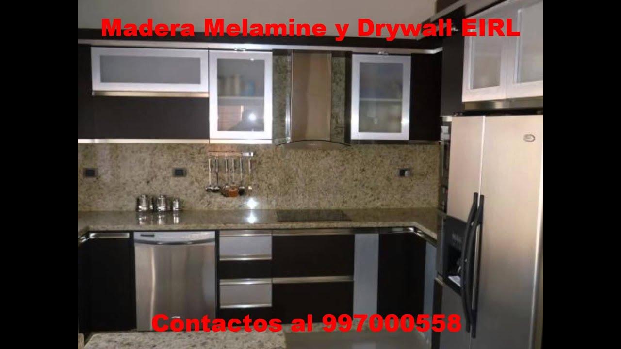 Madera melamine y drywall modelos al escoger youtube for Modelos de muebles de cocina 2016