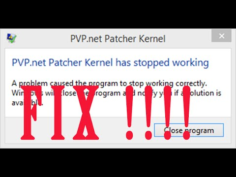 league of legends pvp.net patcher kernel
