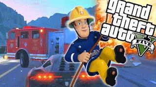 BRANDWEERMAN SAM! - GTA 5 Online Funny Moments