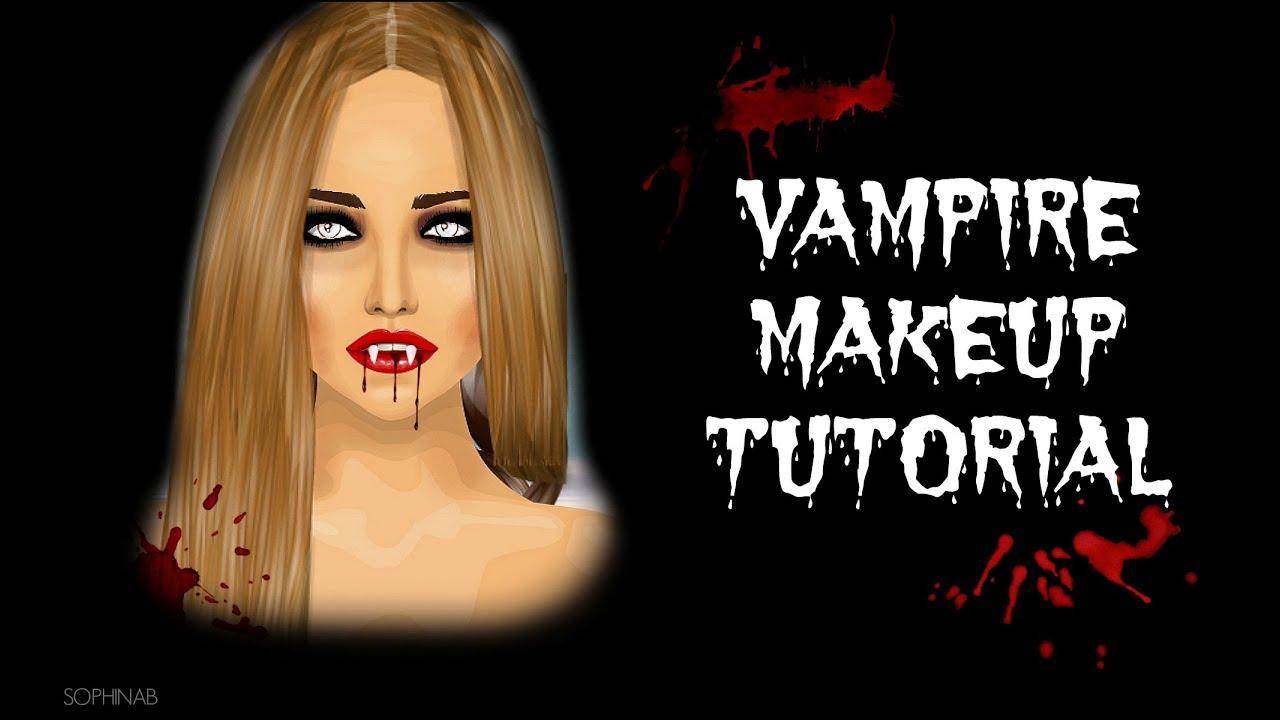 Halloween: Vampire Makeup tutorial ~ SophinaB - YouTube