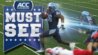 unc s gio bernard unreal game winning punt return for td acc must see moment