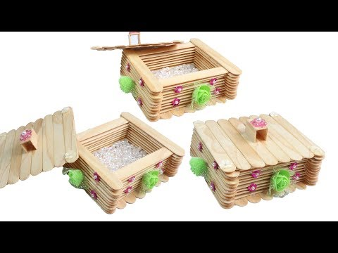 DIY Jewellry box / How to Make jewellry box / popsicle stick crafts