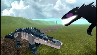 Roblox DinoSim - Showcase Blackodile 100k DNA