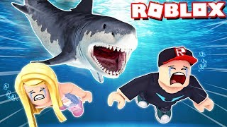 The SHARK WANTS US to DEVOUR in ROBLOX 😱🦈! Vito and Bella