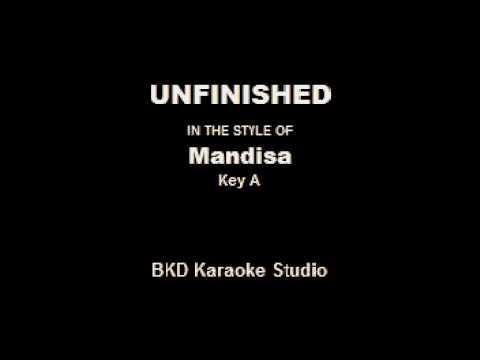 Unfinished In the Style of Mandisa Karaoke with Lyrics