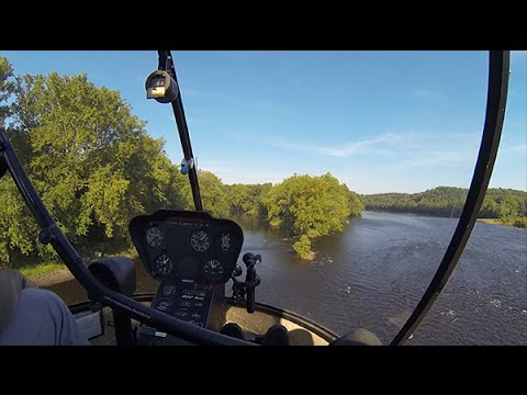 Robinson R22 Helicopter - Student Pilot - Confined Area Landings - Delaware River - Erwinna Private