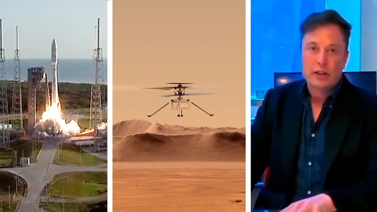 Download NASA launches first Mars Helicopter Ingenuity & Perseverance Rover   Elon Musk on Mars Exploration