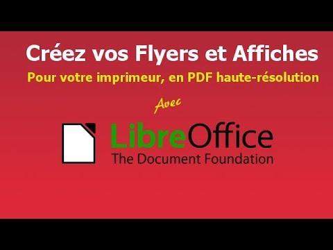 Créer Des Pdf Pour Vos Flyers Et Affiches Avec Libreoffice Impress