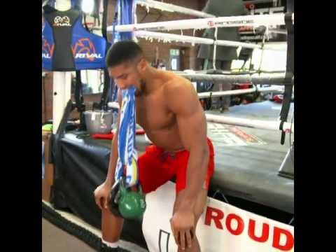 6a8a42fe4f4 Anthony Joshua Insane Neck Work Out Ready To Absorb Eric Molina s ...