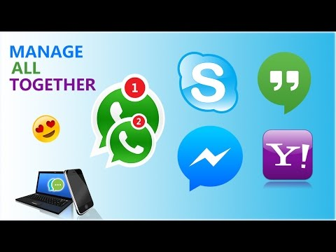 ALL MESSENGER APPS IN ONE | How To Manage Multiple Accounts At Once