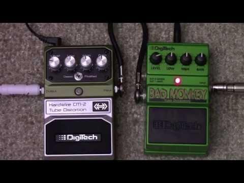 Digitech Hardwire CM2 VS Digitech Bad Monkey Overdrive Pedal Shootout