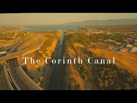 """4k short aerial film """"The Cotinth Canal"""""""