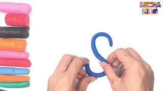 Learn Coloring and Drawing The Letter S ✅How To Teach Baby To Speak English