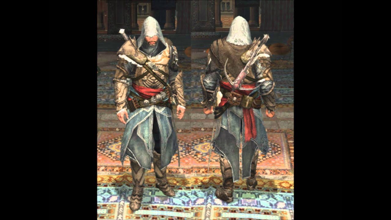 assassins creed revelations all armors youtube