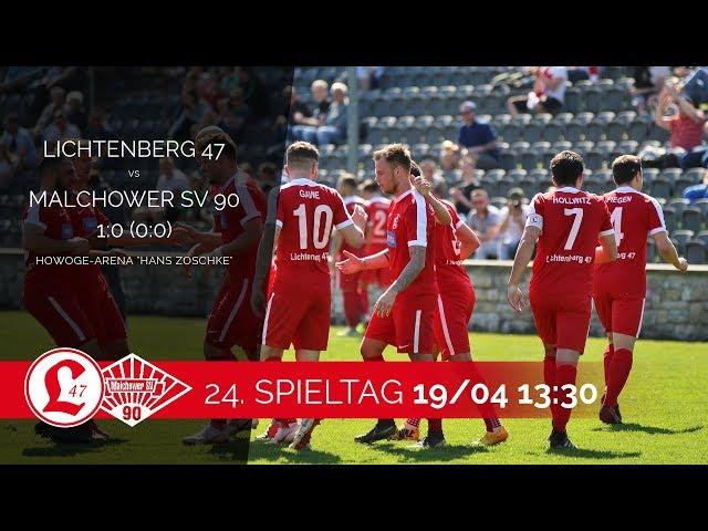 Oberligateam: Spielszenen Lichtenberg 47 – Malchower SV