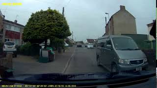 2018-06-14 - grey Mazda HY55EWP squeezes through