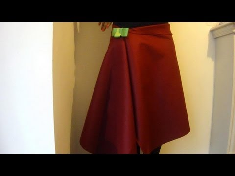 DIY No Sew Skirt / How To Make A Wrap Over Skirt In 1 Minute! - YouTube