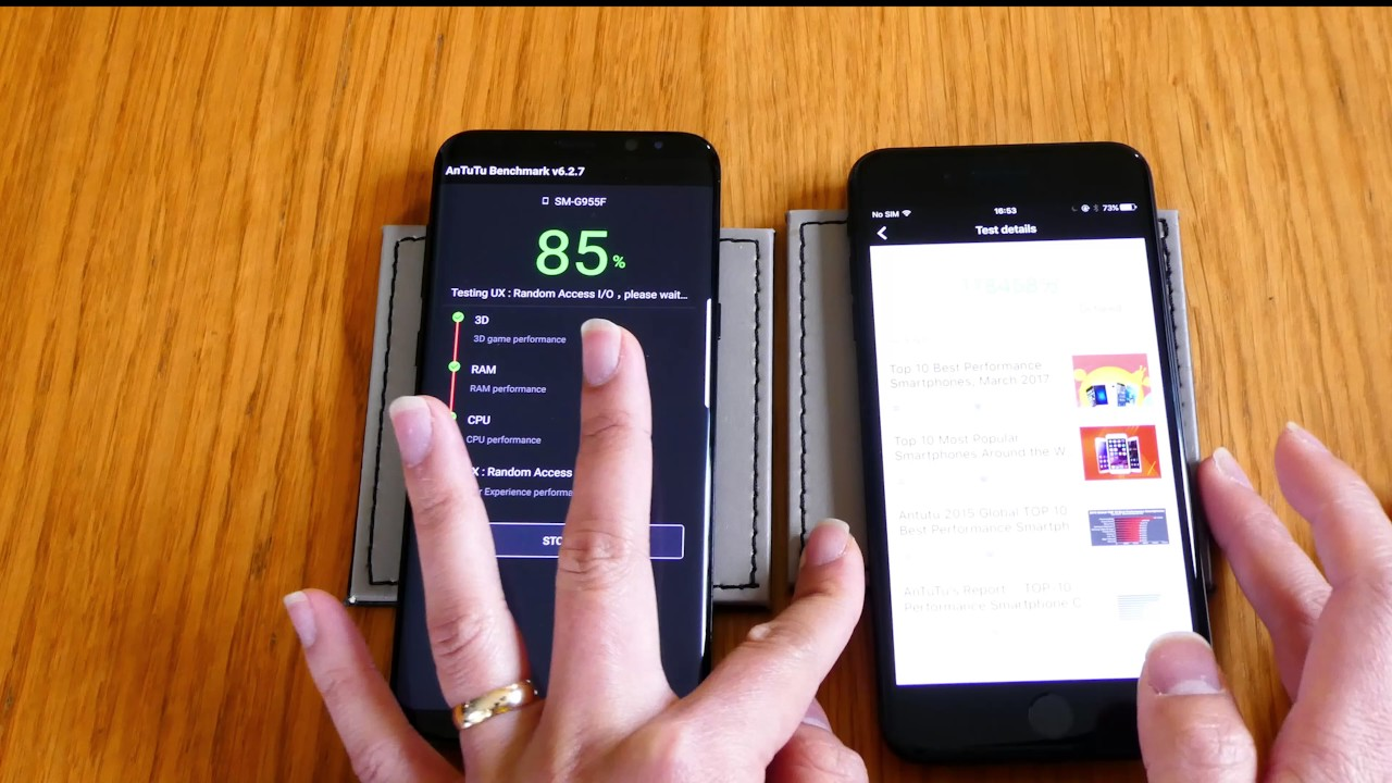 samsung s8 vs iphone 8 benchmark