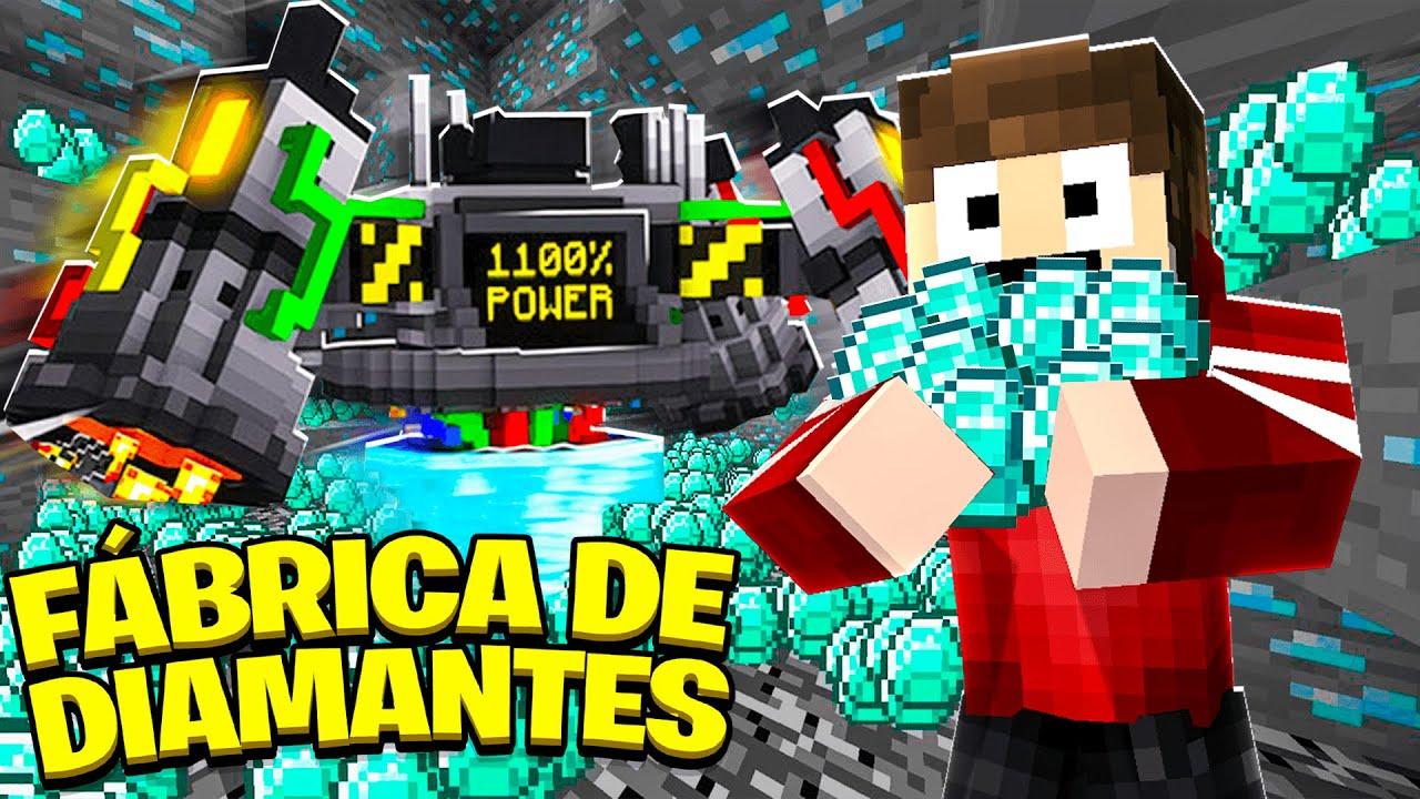 Minecraft FIQUEI RICO COM UMA FÁBRICA DE DIAMANTES