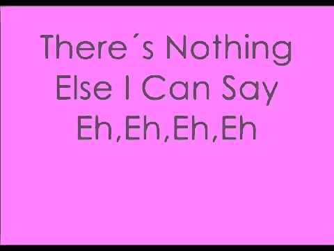 LADY GAGA LYRICS for Eh, eh Nothing Else I Can Say onscreen text
