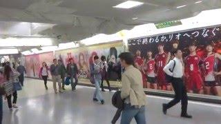 新宿アルプス広場電照シートからのJR新宿北通路ワイドボード 2016 0515 ...
