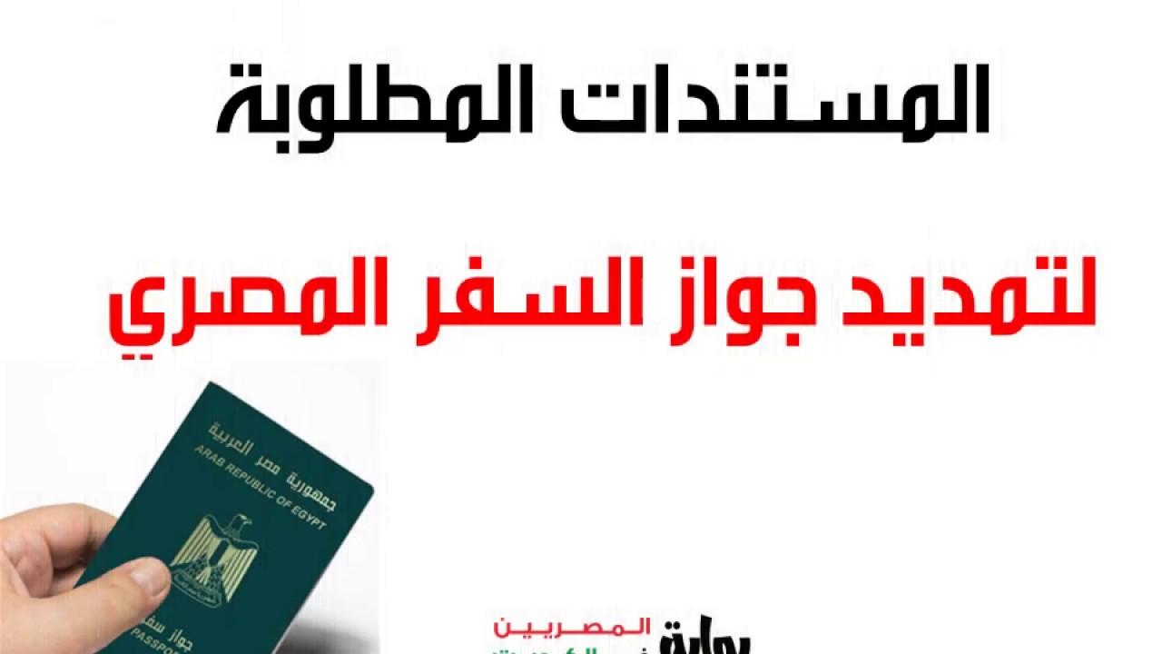 المستندات المطلوبة لتمديد جواز السفر المصري المميكن Youtube