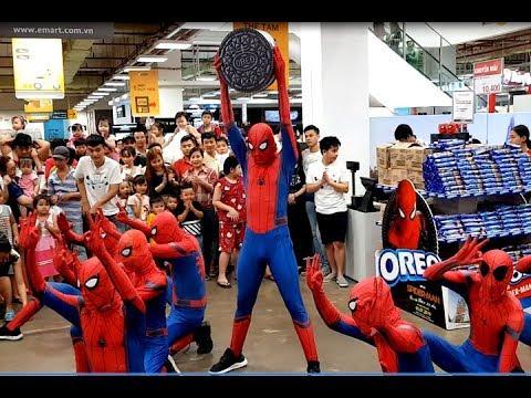 Biệt đội người nhện nhảy siêu cool | Vũ điệu bánh Oreo | Spiderman dancing | CaraMon TV