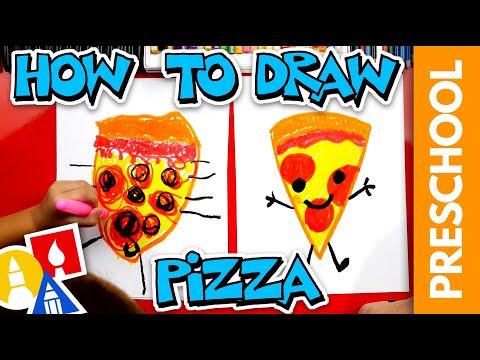 How To Draw Pizza - Preschool