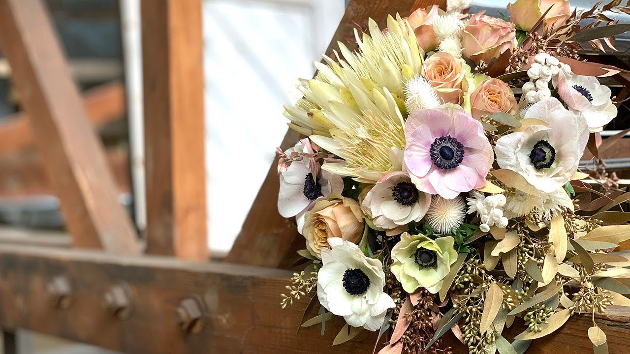 Dried Fresh Wedding Bouquet Youtube
