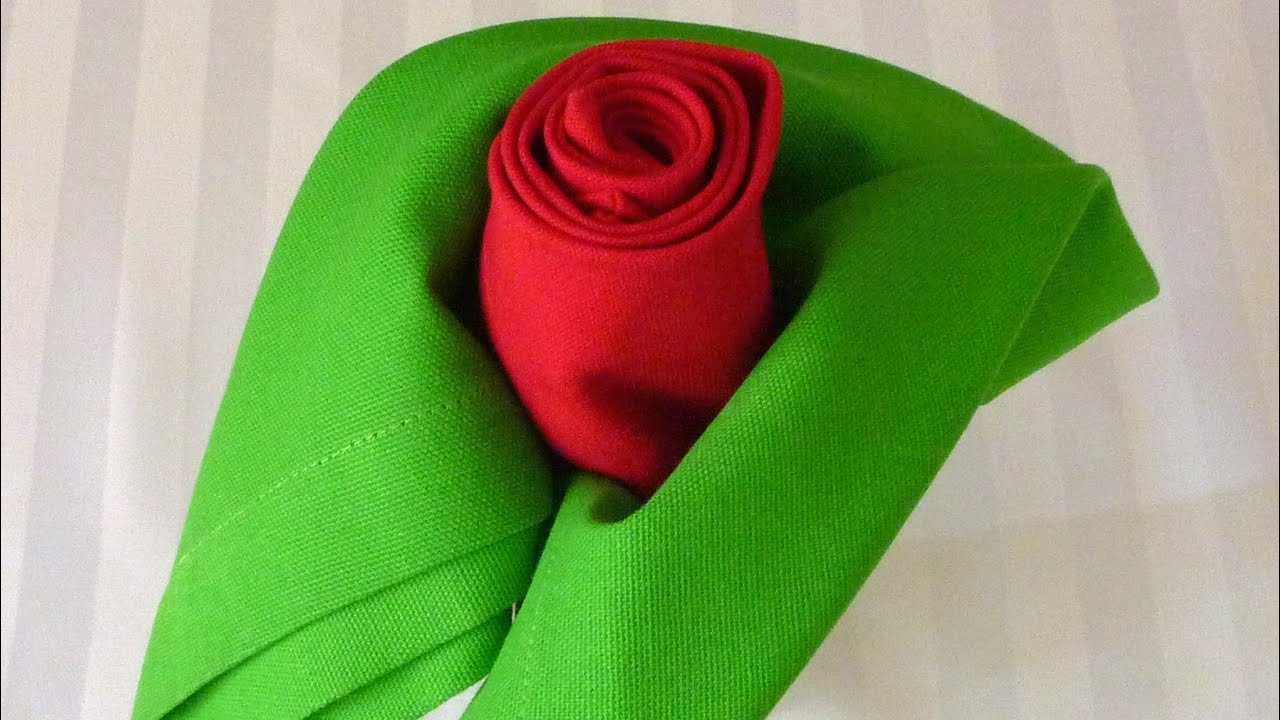 Napkin Folding - Rose - YouTube