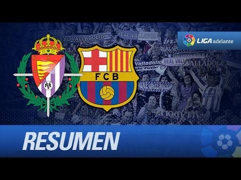 Resumen de Real Valladolid (7-0) FC Barcelona B - HD