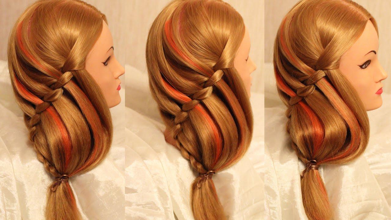 Повседневная прическа на средние волосы своими руками фото 758
