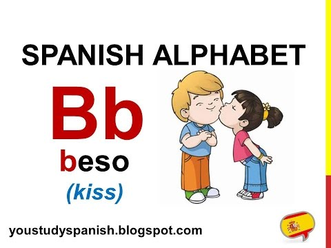 Spanish Lesson 1  SPANISH ALPHABET pronunciation for kids ALFABETO español ABECEDARIO para niños