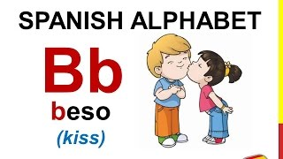 Spanish Lesson 1 - SPANISH ALPHABET pronunciation for kids ALFABETO español ABECEDARIO para niños