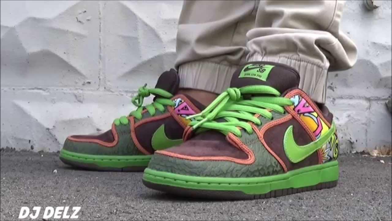 new style d01e8 a2b29 Nike SB Dunk Low De La Soul 2015 Sneaker On Feet With @DjDelz