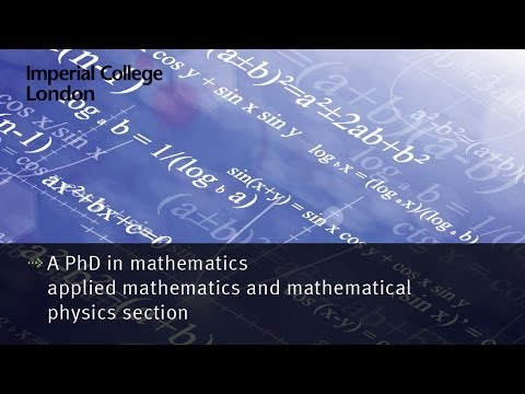 A PhD in mathematics - applied mathematics and mathematical physics section