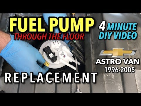 astro van fuel pump replacement 1996 2005 (gmc safari) 4 minute  fuel filter location on 1995 chevy astro van #10