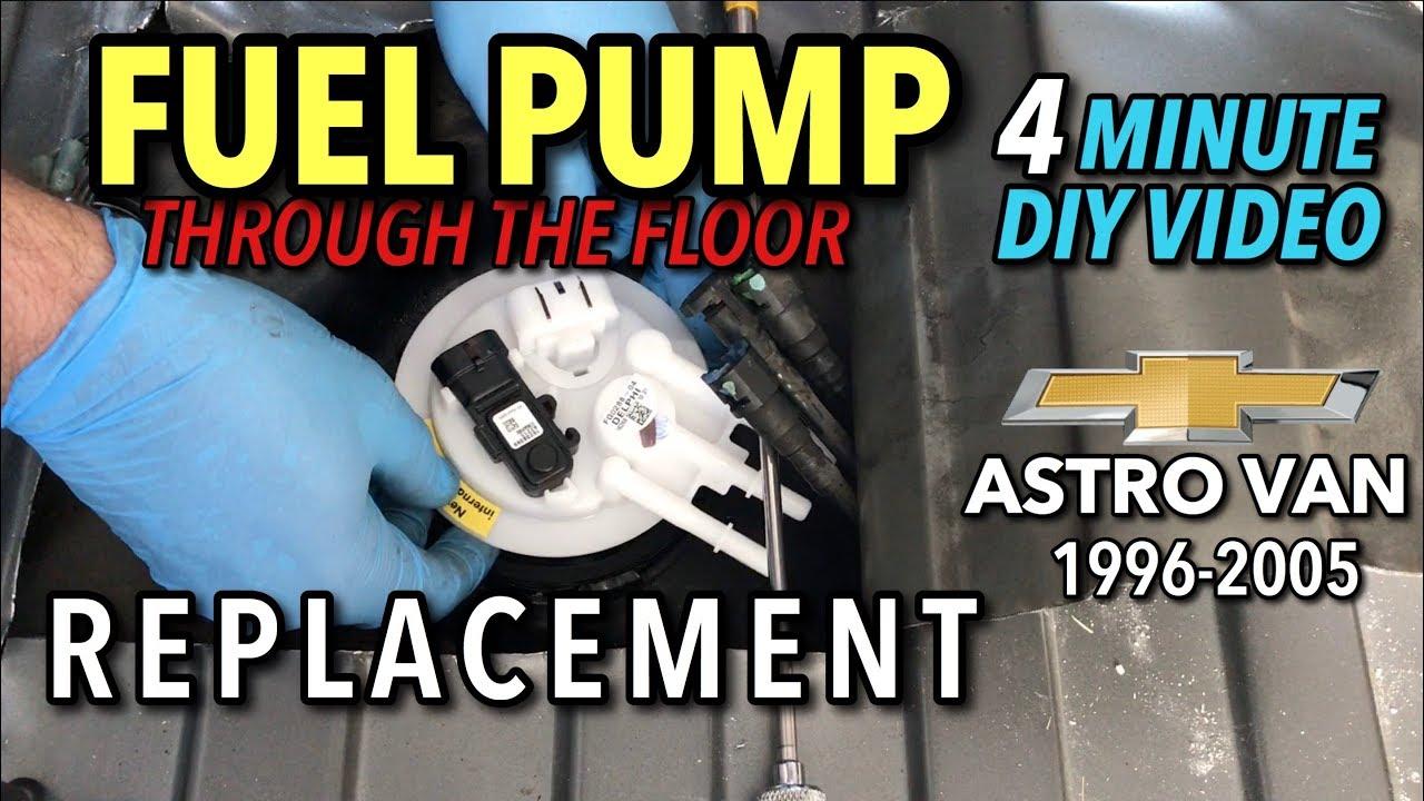 astro van fuel pump replacement - 1996-2005 (gmc safari) - 4 minute diy  video