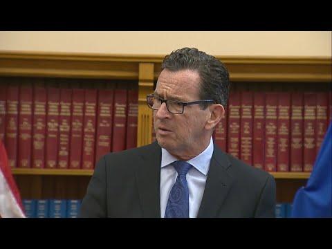 Gov. Malloy gives press briefing on transportation budget